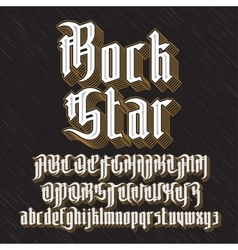 Modern Gothic Font vector image