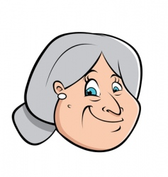 old lady's hairbun vector image vector image