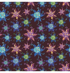 Pattern with Spring Flowers vector image vector image