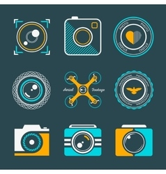Set of icons and logos photo vector image