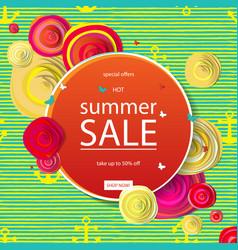 Summer discounts banner vector