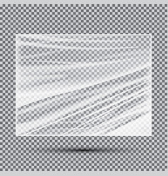 Transparent light polyethylene banner vector