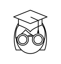 woman with graduation cap icon vector image vector image