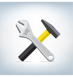 wrench and hammer icon vector image