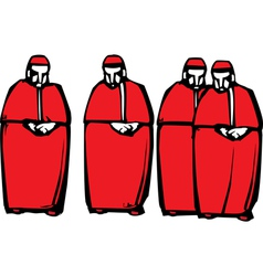 Cardinals vector image