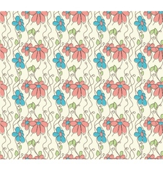 Seamless pattern with flowers of doodles made vector