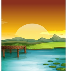 Sunny landscape vector