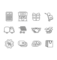 Icons shop set vector