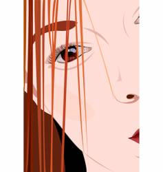 girl's portrait vector image