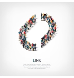 Link people crowd vector