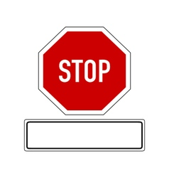 Stop sign with added sign vector