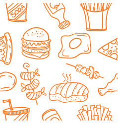 Art of food style doodles vector
