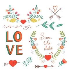 Beautiful love set vector