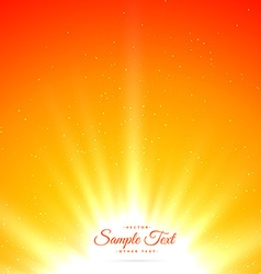 bright shiny sunburst background vector image