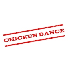 Chicken dance watermark stamp vector