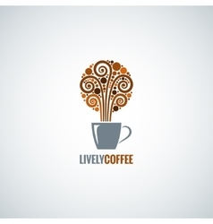 coffee cup design concept background vector image vector image