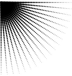 Diminishing halftone dots vector