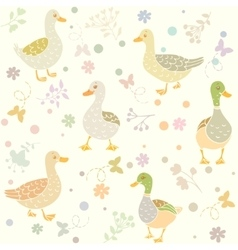 Ducks seamless vector