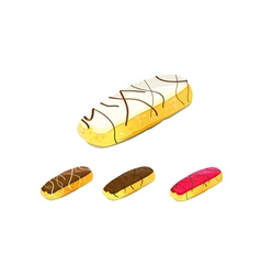 eclair cake vector image vector image