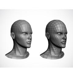 Female heads vector
