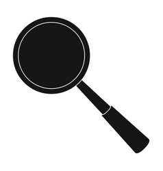 magnifying glass icon in black style isolated on vector image