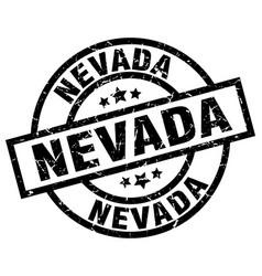 Nevada black round grunge stamp vector