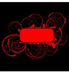 Red curves banner vector