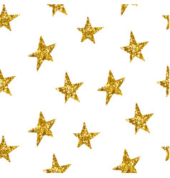 Seamless pattern with gold stars vector