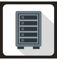 Security safe locker icon flat style vector