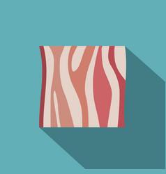 Slice of ham icon flat style vector