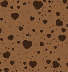 Valentine Day and colorful Heart on Brown vector image vector image