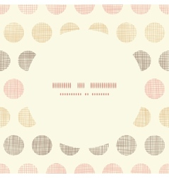Vintage textile polka dots oval frame seamless vector image vector image