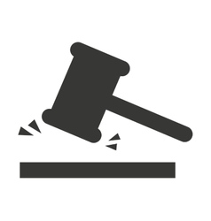 Gavel hammer isolated icon vector