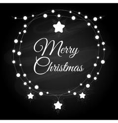 Vintage christmas wreath vector image