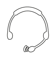 Headphone call center equipment vector