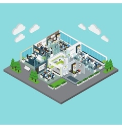 Office isometric composition vector