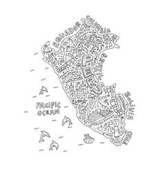 Map of peru vector