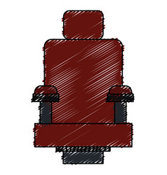 Cinema chair isolated icon vector