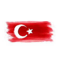 Abstract grunge turkey flag vector