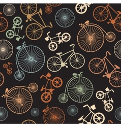 Seamless colorful retro vintage bicycle vector