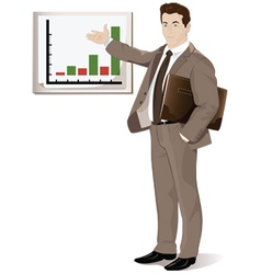 Businessman with schedule vector
