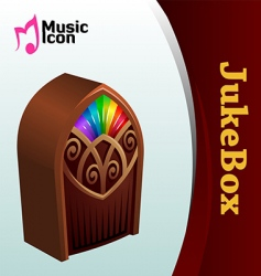 music jukebox vector image