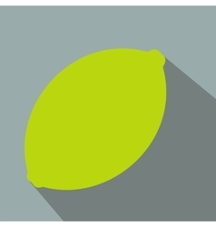 Lime flat icon vector