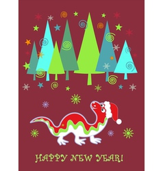 dragon new year vector image