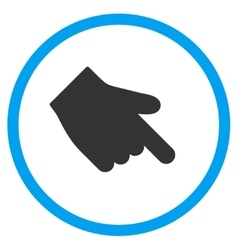 Down right index finger icon vector