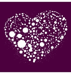 Splatter heart vector