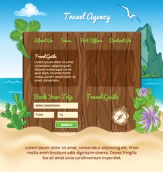 Beach background for template vector