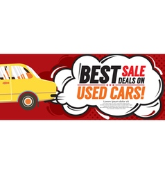 Used car best sale deal 6250x2500 pixel banner vector