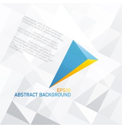 Blue arrow with orange accent abstract background vector
