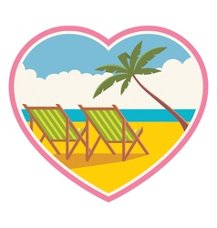 a beach vacation for lovers vector image vector image